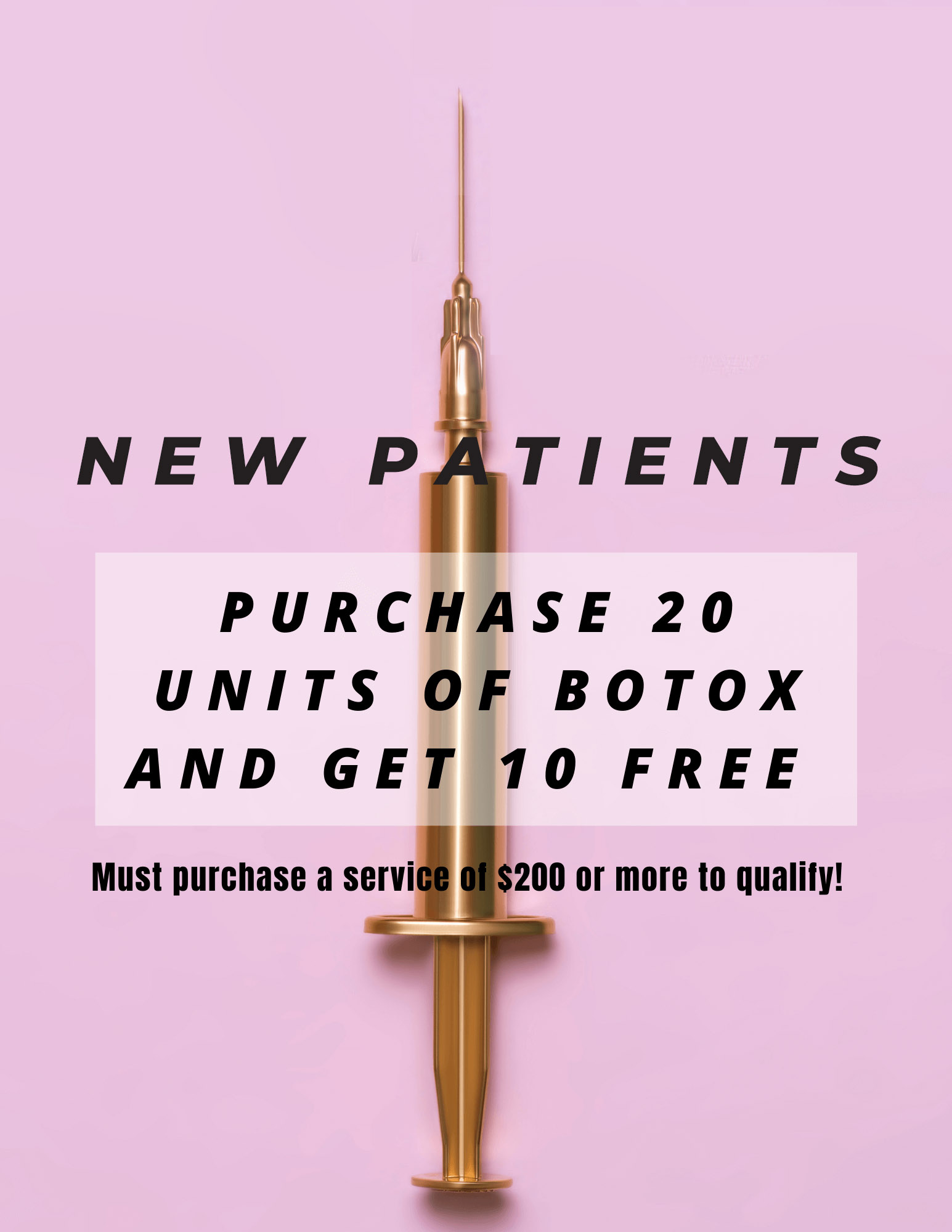 New Patients ONLY Botox Sale